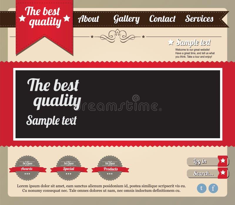 Elementos do molde do Web site ilustração do vetor
