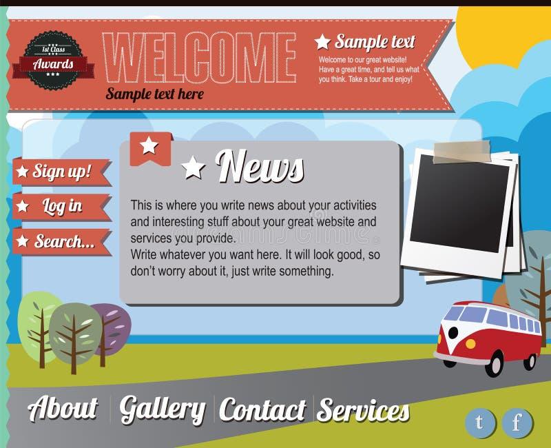 Elementos do molde do Web site, estilo do vintage ilustração royalty free