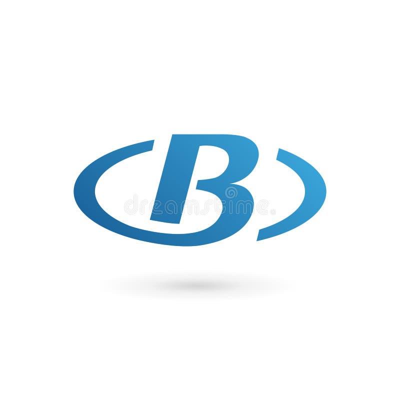 Elementos do molde do projeto do ícone do logotipo da letra B ilustração royalty free