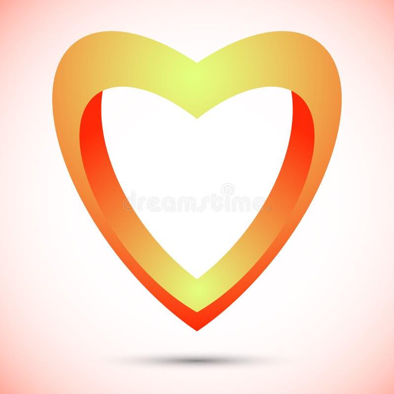 Elementos do molde do projeto do ícone do logotipo do símbolo do coração ilustração stock