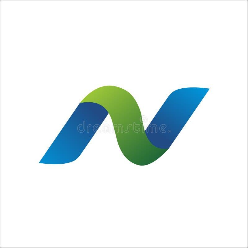 Elementos do molde do projeto do ícone do vetor do logotipo da letra N ilustração stock