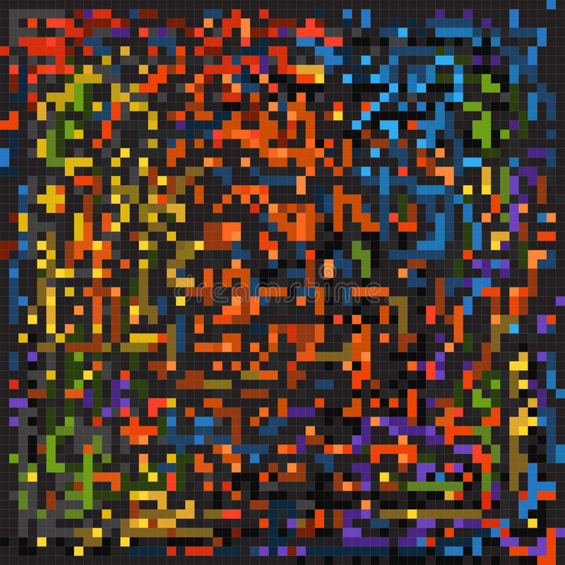 Elementos do mosaico da cor ilustração do vetor