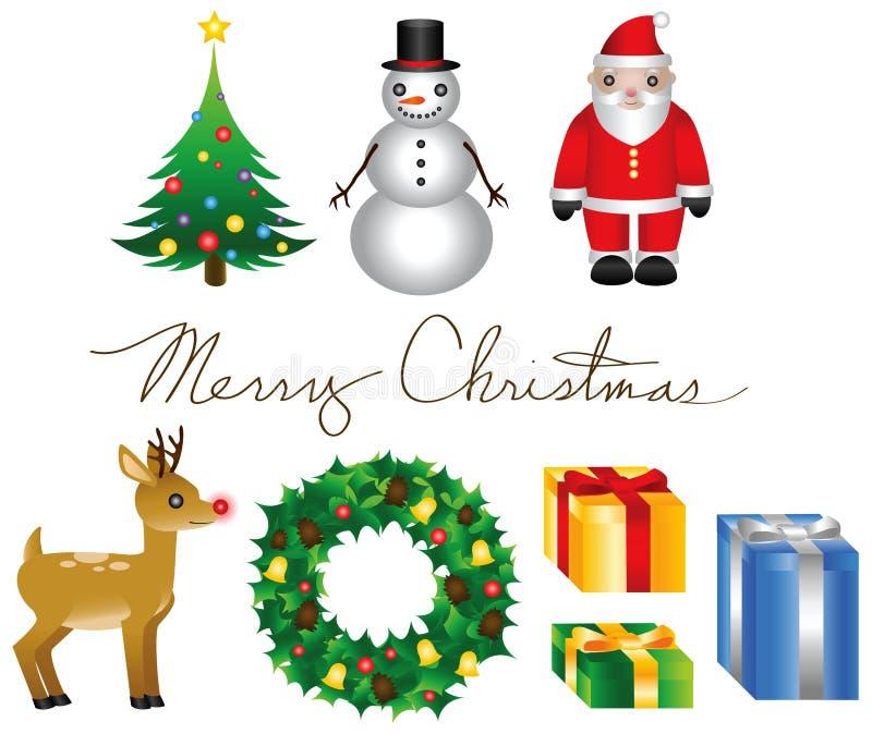 Elementos do Natal ilustração stock