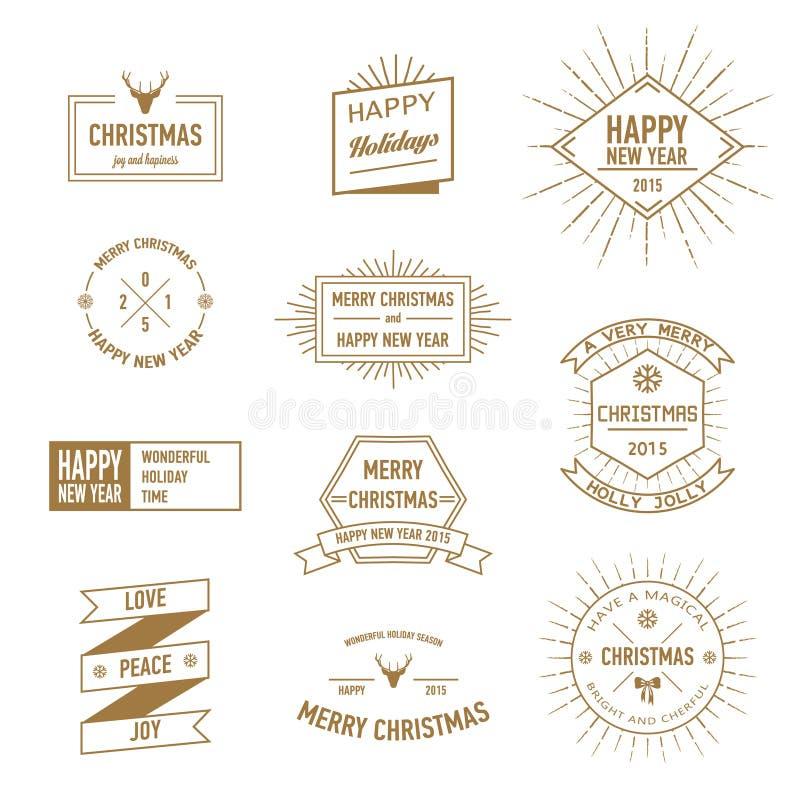Elementos do Natal para o cartão ilustração stock
