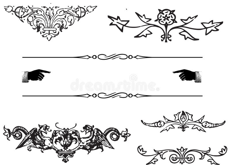 Elementos Do Ornamento Imagem de Stock Royalty Free