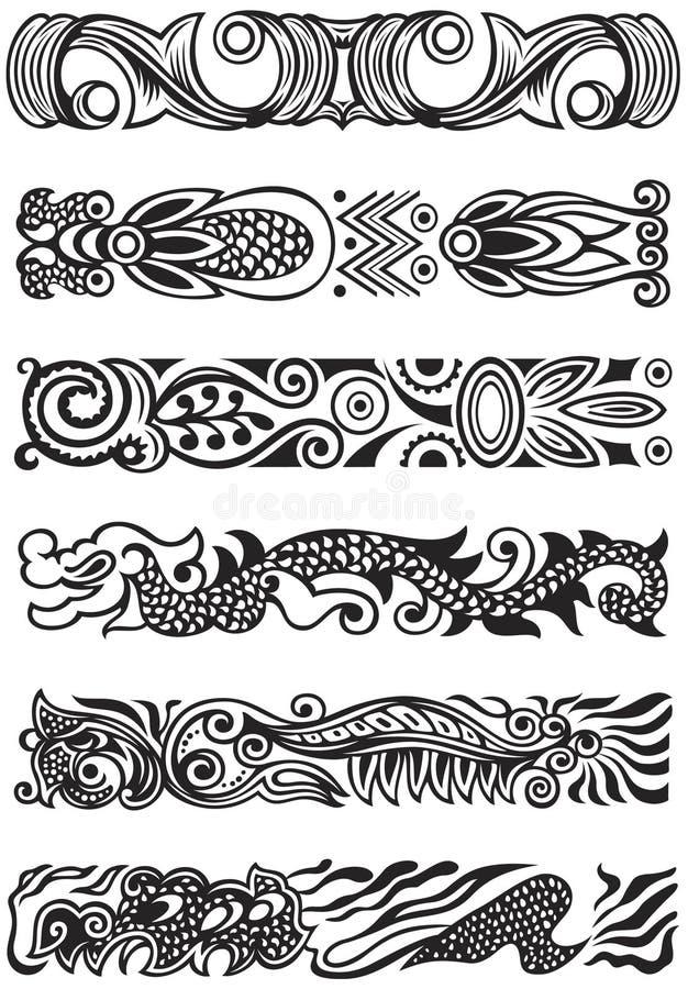 Elementos do ornamento ilustração stock