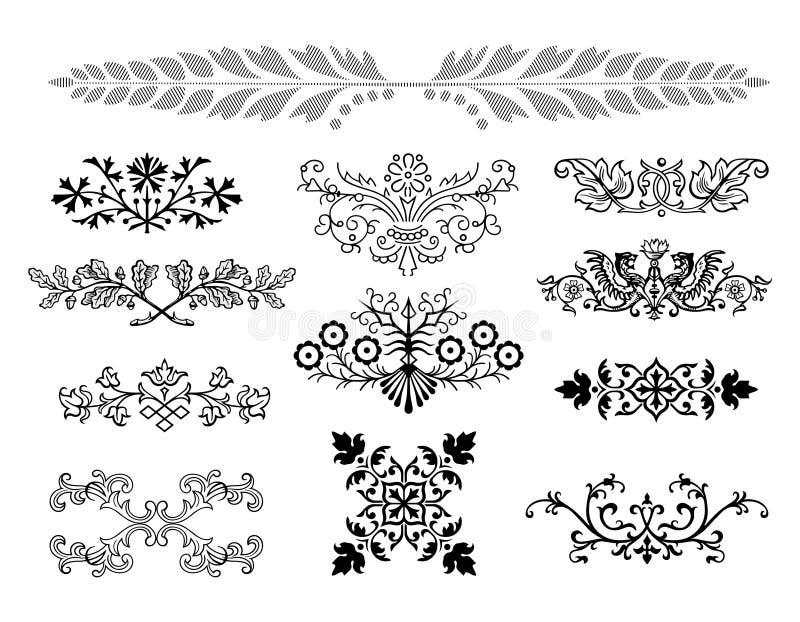 Elementos do projeto ilustração do vetor