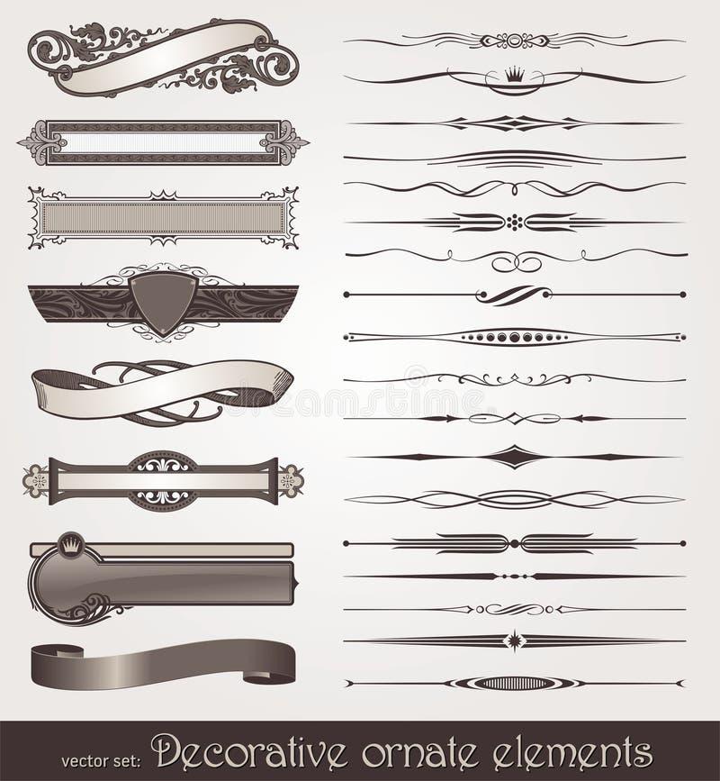 Elementos Do Projeto & Decorações Da Página Imagem de Stock