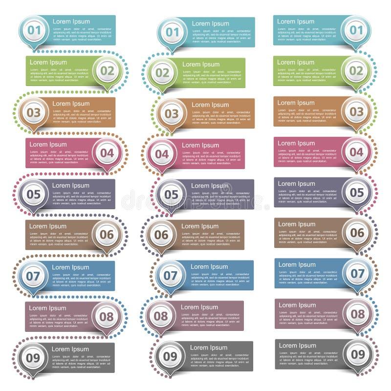 Elementos do projeto com números ilustração royalty free
