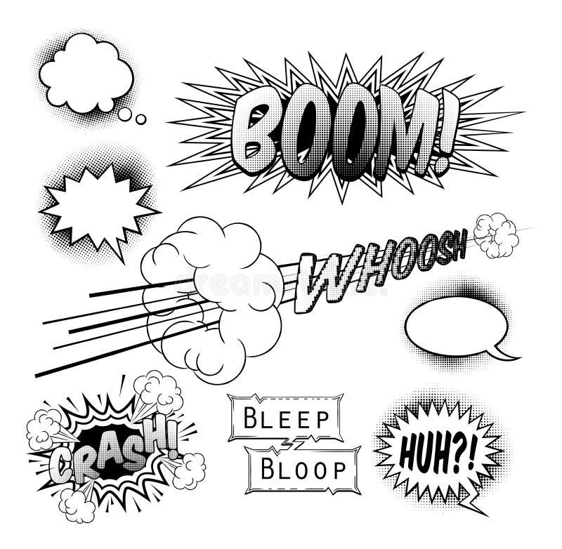 Elementos do projeto da banda desenhada ilustração royalty free