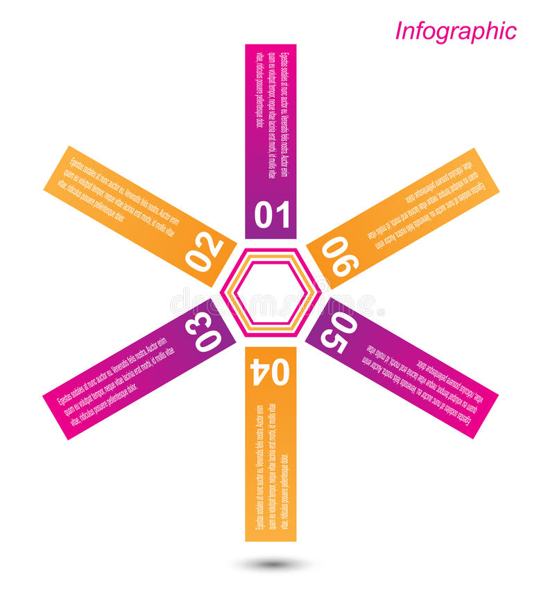 Elementos do projeto da bandeira de Infographic ilustração royalty free