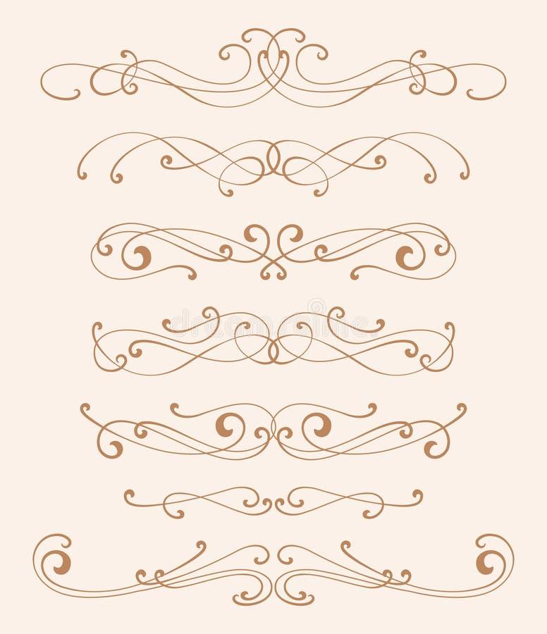 Elementos do projeto da elegância ilustração stock