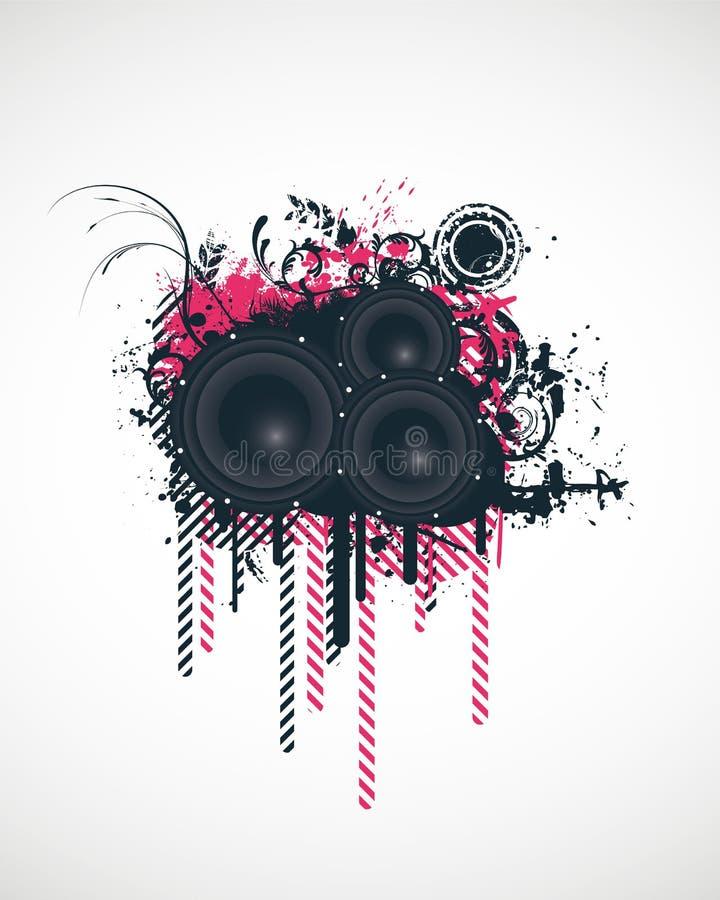 Elementos do projeto da música ilustração stock