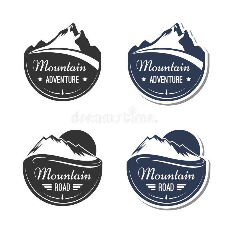 Elementos do projeto da montanha ilustração royalty free