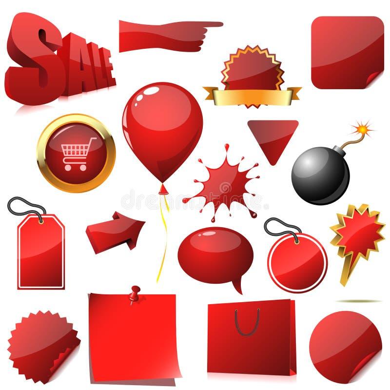 Elementos do projeto da venda ilustração do vetor