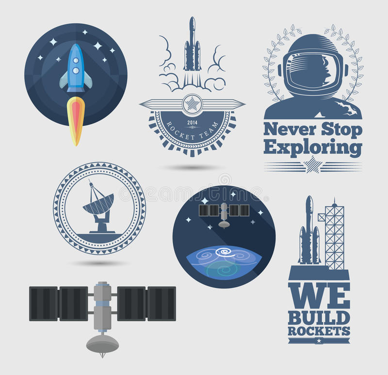 Elementos do projeto de espaço ilustração do vetor