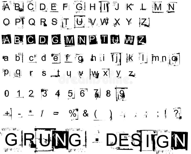 Elementos do projeto de Grunge 1/2 ilustração stock