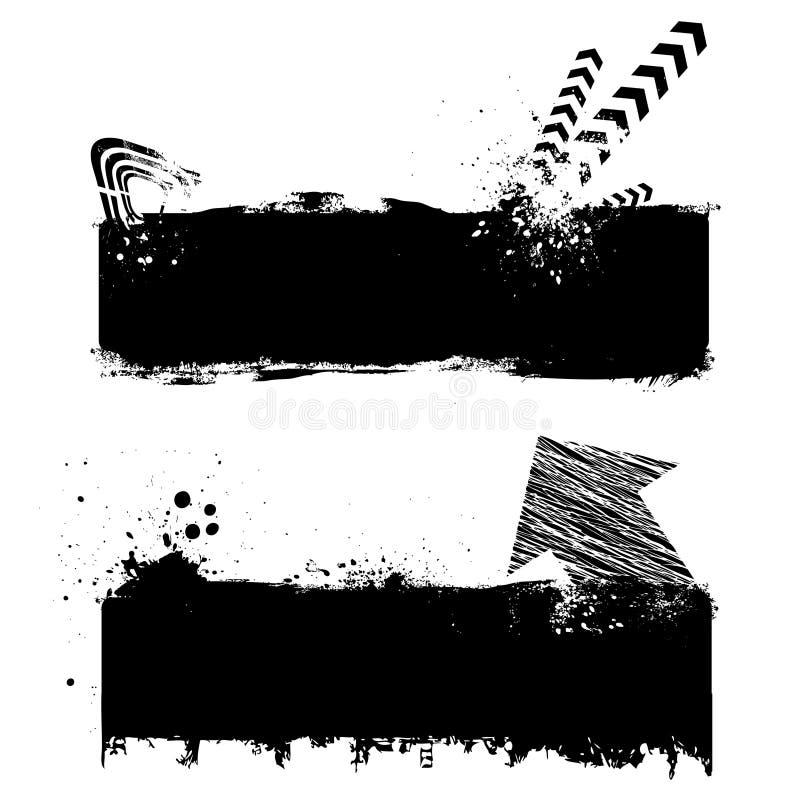 Elementos do projeto de Grunge ilustração do vetor