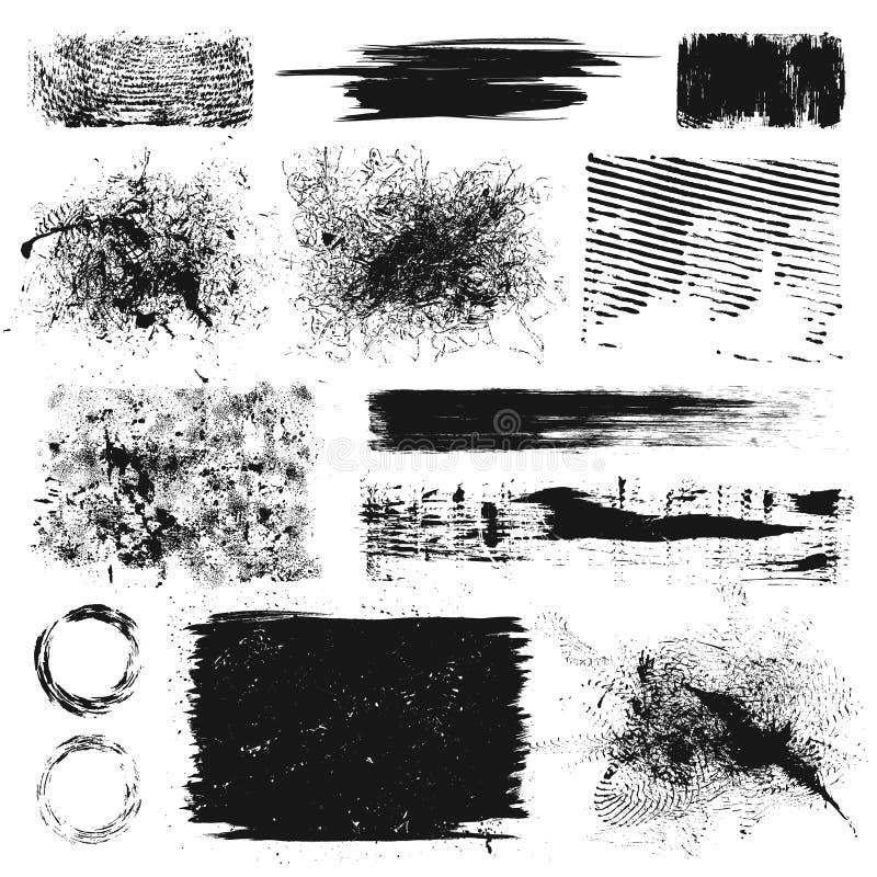 Elementos do projeto de Grunge ilustração royalty free