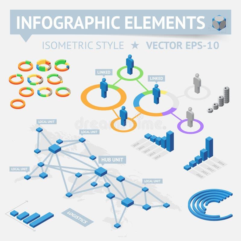 Elementos do projeto de Infographic ilustração stock