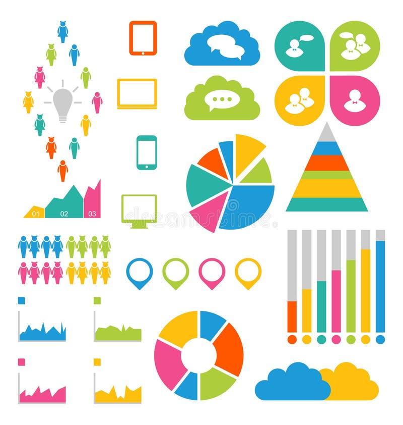 Elementos do projeto de Infographic ideais indicar para seu informatio ilustração stock