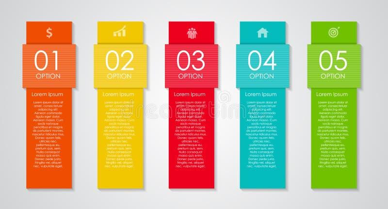 Elementos do projeto de Infographic para seu negócio ilustração royalty free