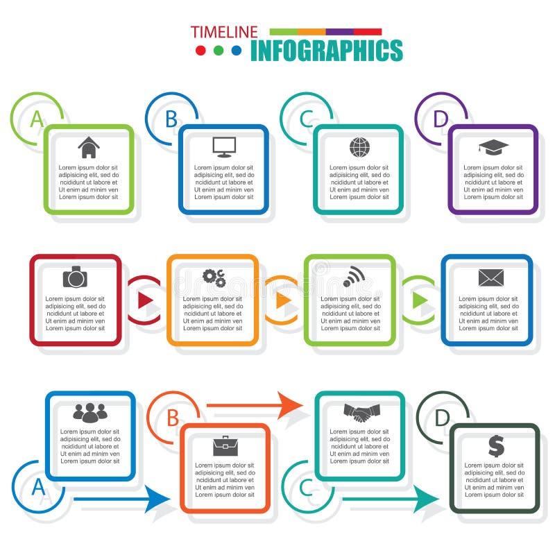 Elementos do projeto de Infographic para seu negócio Molde liso ilustração stock