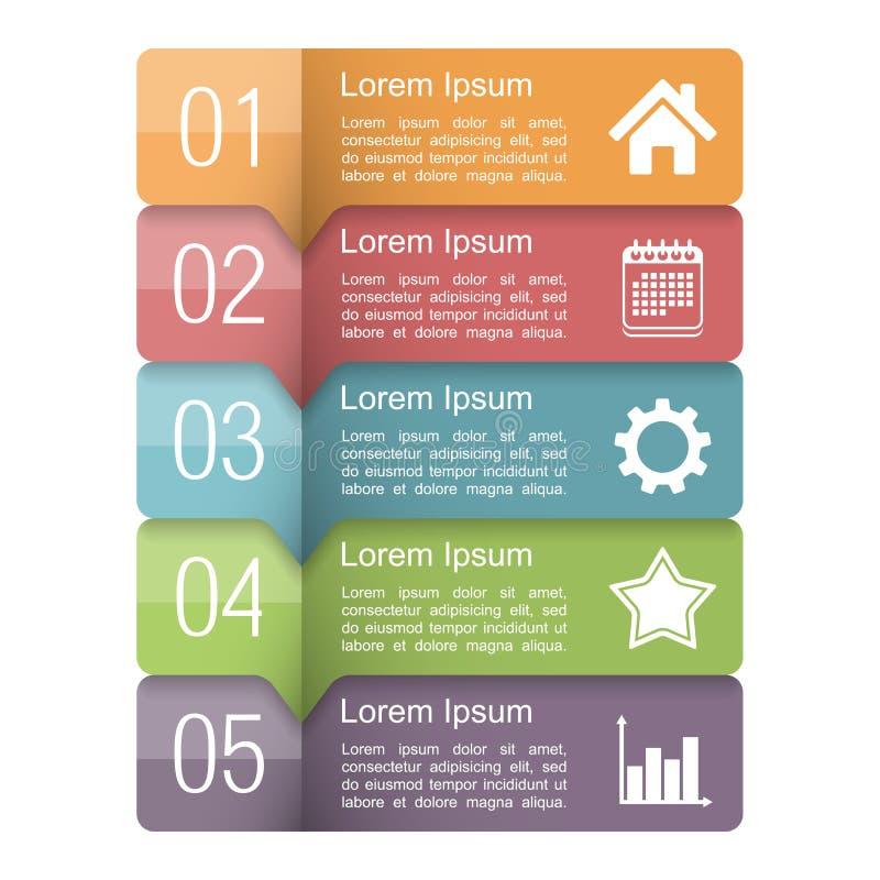 Elementos do projeto de Infographics ilustração royalty free