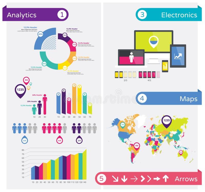 Elementos do projeto de Infographics, molde infographic ilustração royalty free