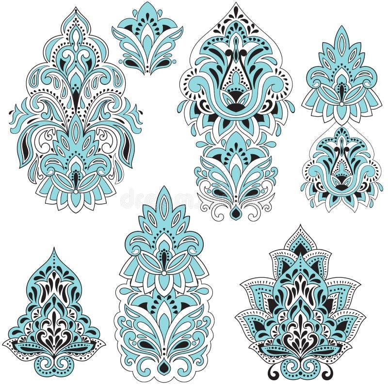 Elementos do projeto de Paisley do vetor ilustração royalty free