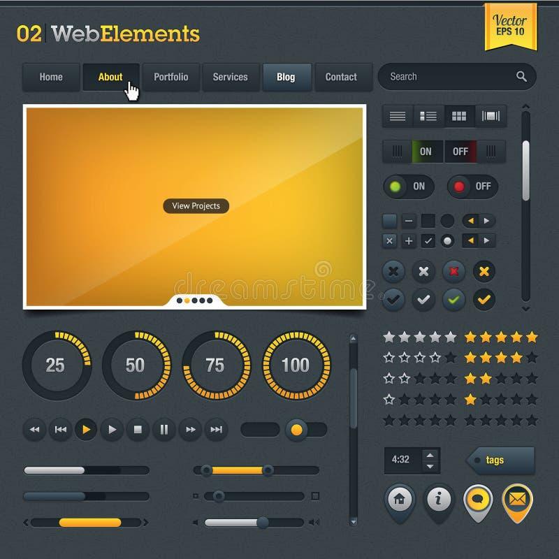 Elementos do projeto de Web ilustração do vetor