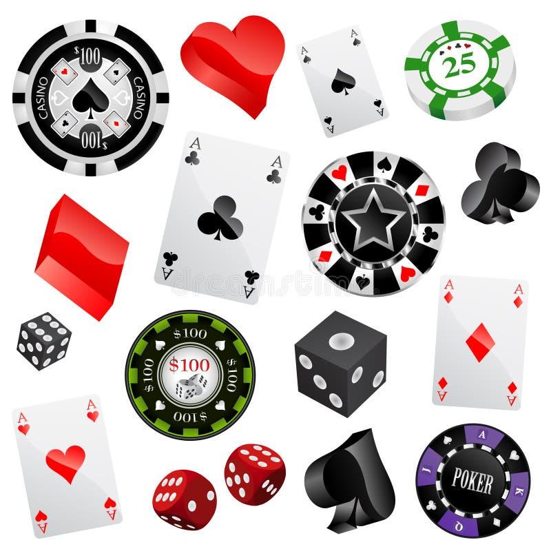 Elementos do projeto do casino ilustração do vetor