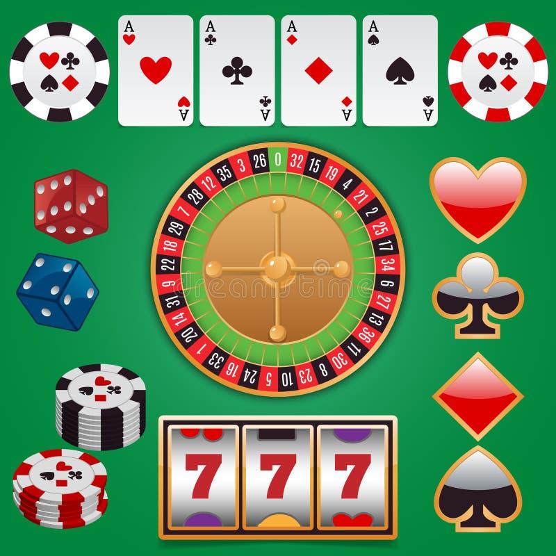 Elementos do projeto do casino ilustração stock