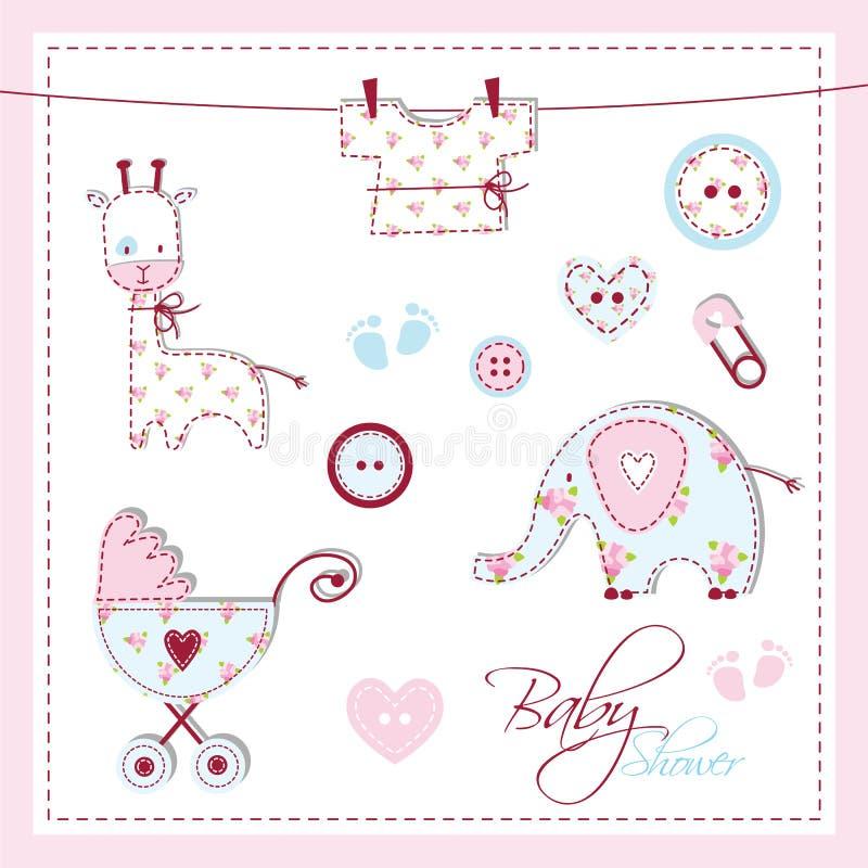Elementos do projeto do chuveiro de bebê