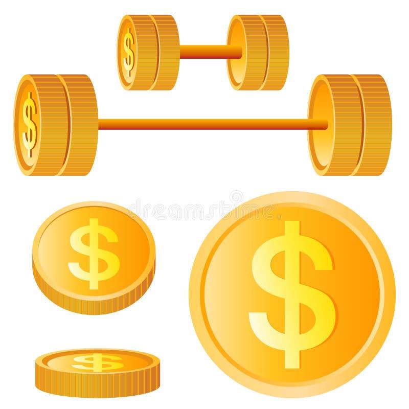 Elementos do projeto do dólar ilustração do vetor