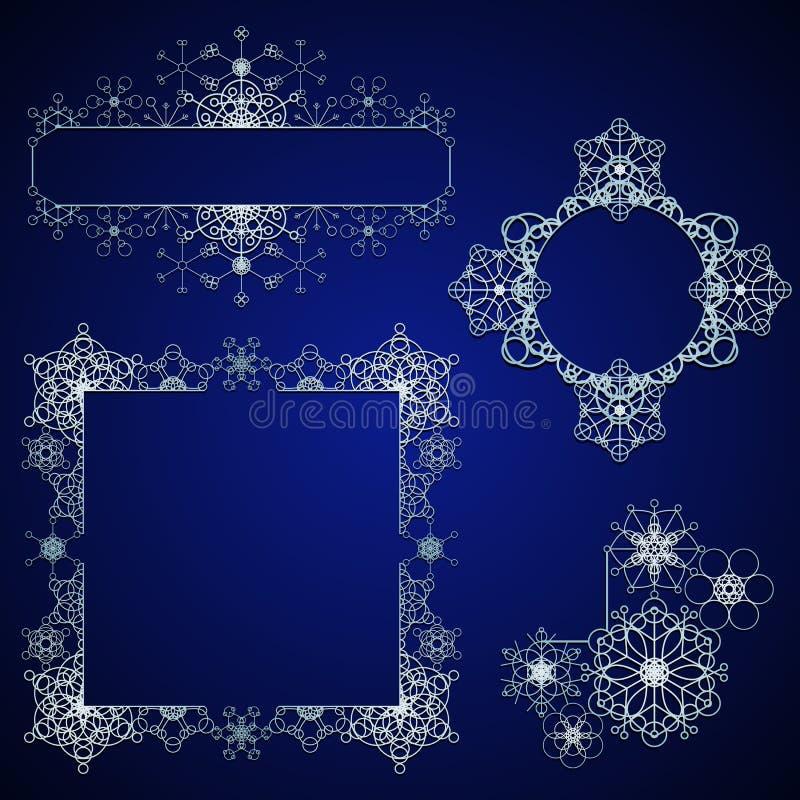 Elementos do projeto do floco de neve ilustração do vetor