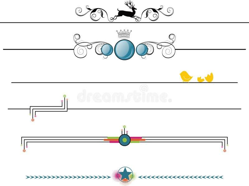 Elementos do projeto do frame da beira ilustração stock