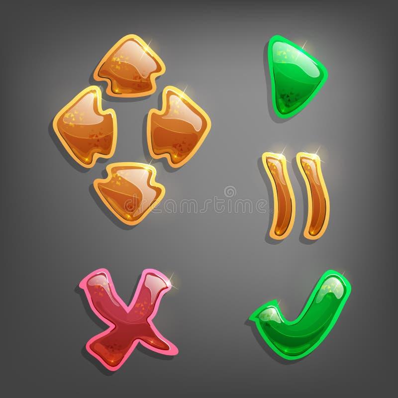 Elementos do projeto do jogo ilustração royalty free