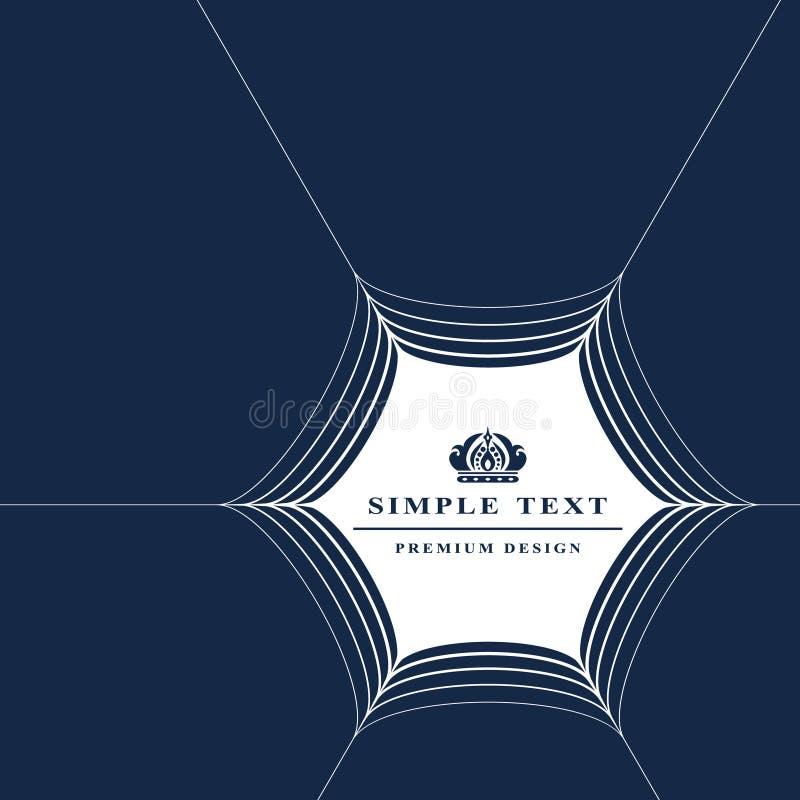 Elementos do projeto do monograma, molde gracioso Linha projeto do quadro da Web do logotipo da arte ilustração do vetor