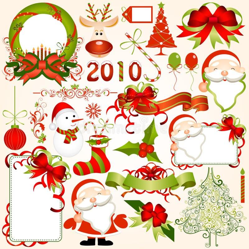 Elementos do projeto do Natal ilustração royalty free