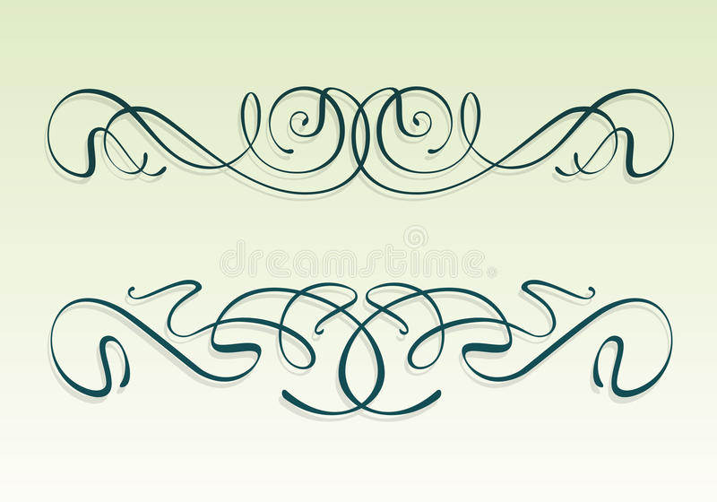 Elementos do projeto do nouveau da arte ilustração do vetor