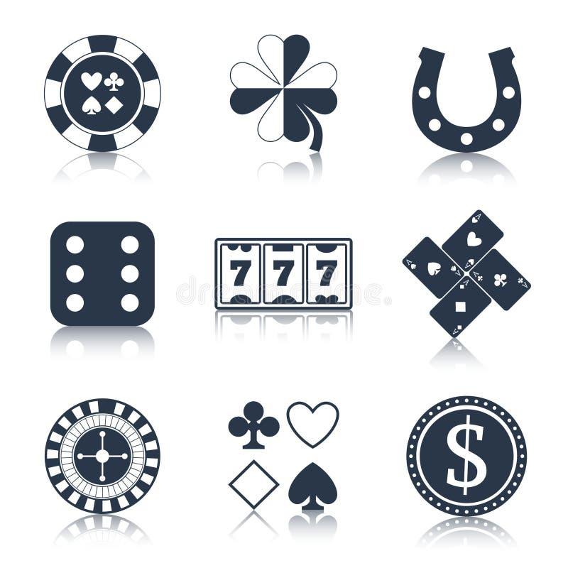 Elementos do projeto do preto do casino ilustração do vetor