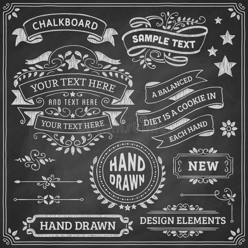 Elementos do projeto do quadro ilustração royalty free