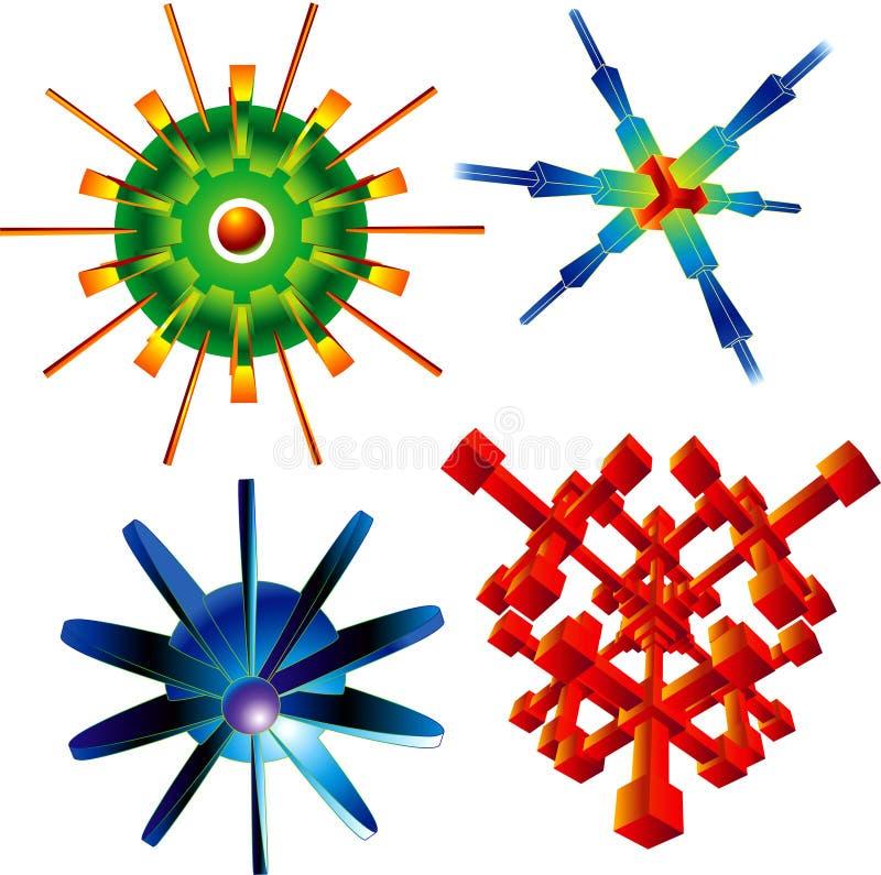 elementos do projeto do vetor 3D ilustração do vetor