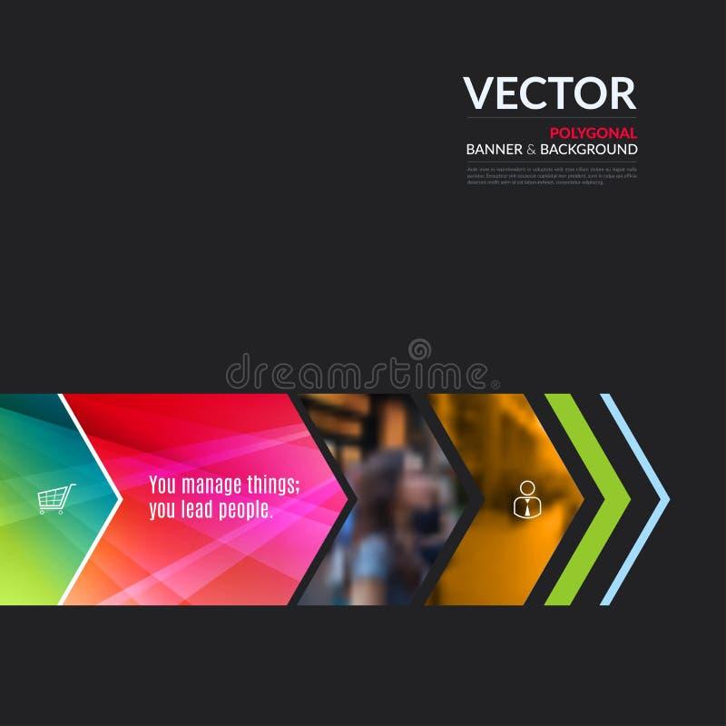 Elementos do projeto do vetor do negócio para a disposição gráfica Resumo moderno ilustração royalty free