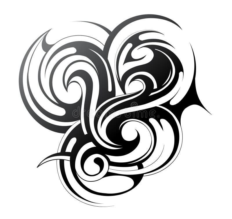 Elementos do projeto. Fogo, água, grama, vento ilustração royalty free
