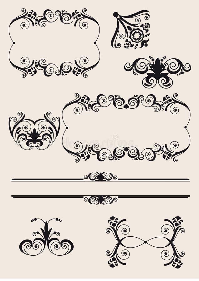 Elementos do projeto gráfico ilustração royalty free