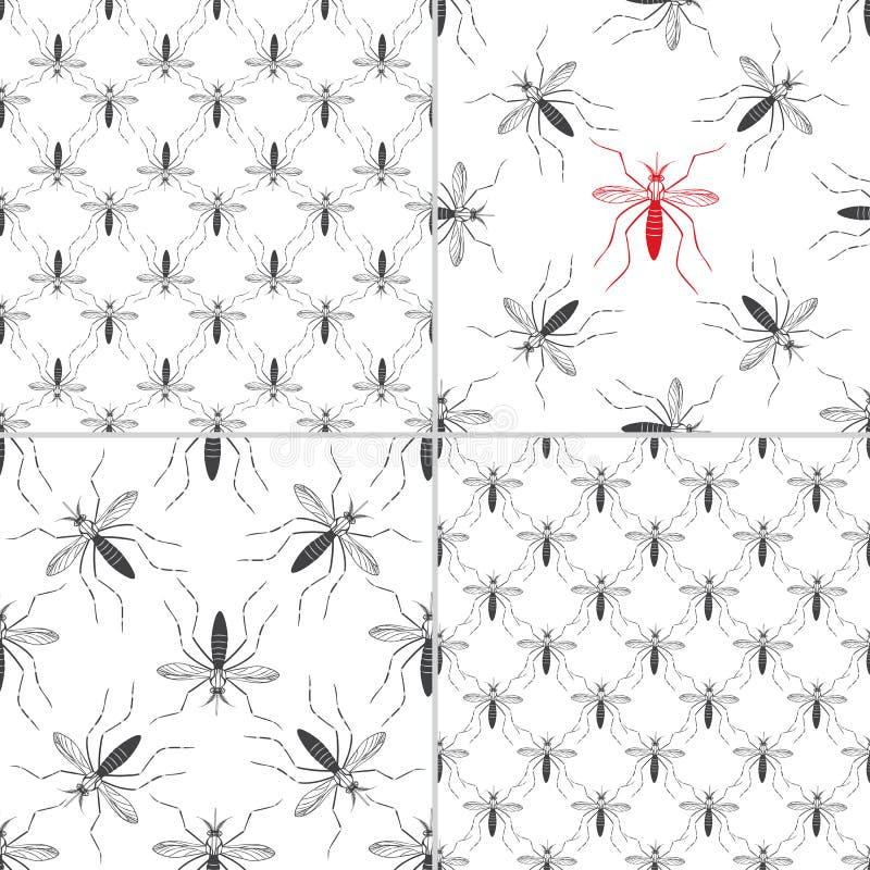 Elementos do projeto gráfico do vírus de Zika ilustração do vetor
