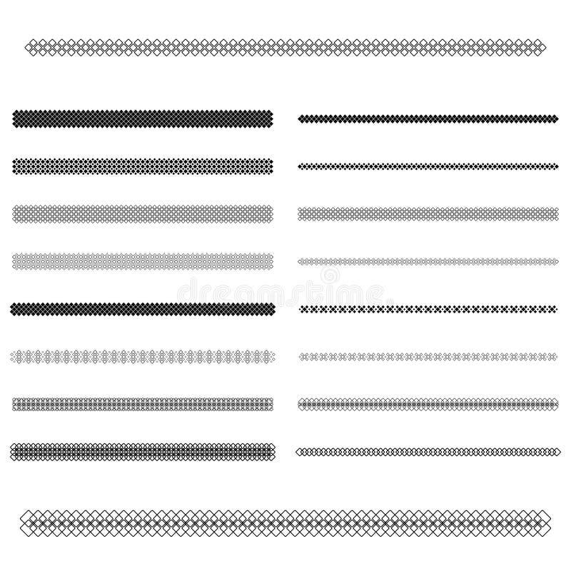 Elementos do projeto gráfico - linha grupo do divisor ilustração stock