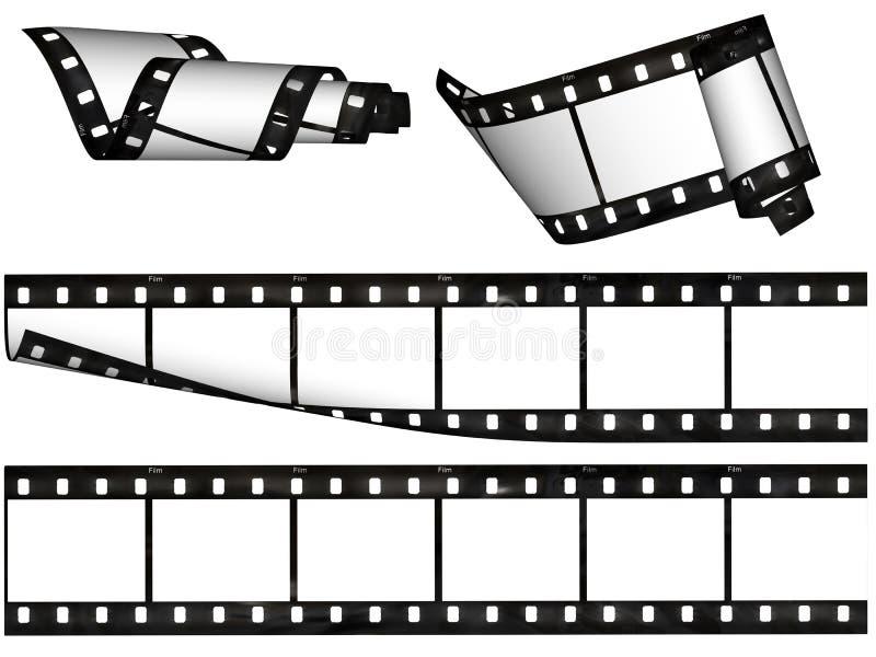 Elementos do projeto, listras em branco da película ilustração do vetor